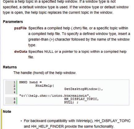 Figure 1. Doxygen output for HH_DISPLAY_TOPIC method.