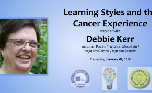 Community Spotlight: Learning Styles and the Cancer Experience