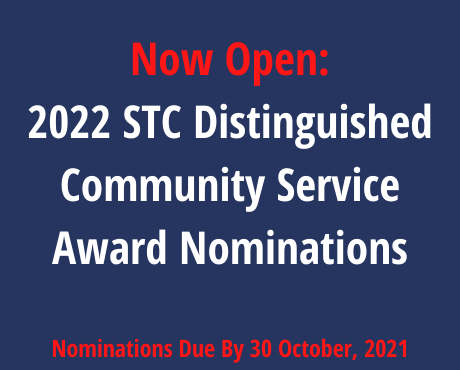 NOW OPEN: 2022 STC Distinguished Community Service Award Nominations