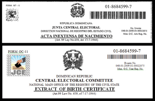 Converging fields expanding outcomes technical communication birth certificate seal barcodes and seals from the dominican republic in recent years government agencies have been providing ways for individuals to yadclub Images