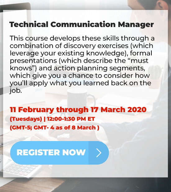 Technical Communication Manager
