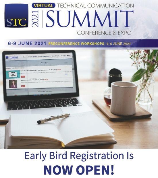 2021 STC Summit Early Bird Registration is open!