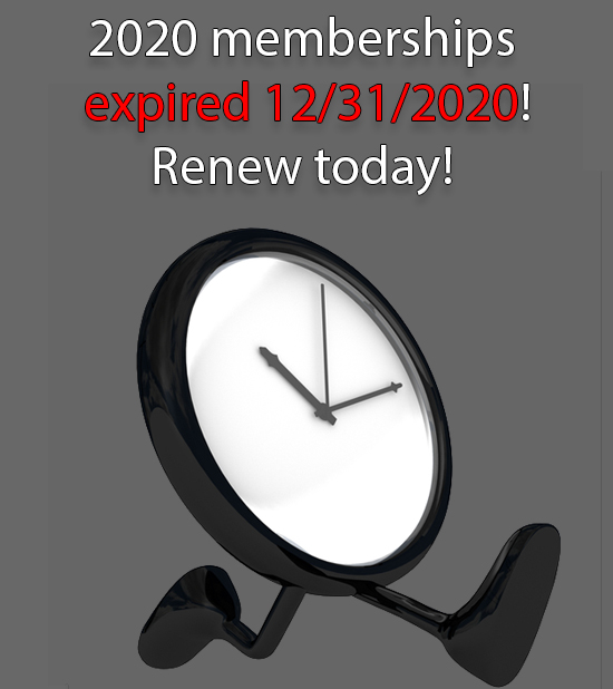 Time is running out on your 2020 membership!