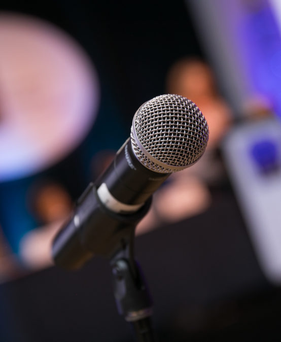 Microphone at the Annual Business Meeting