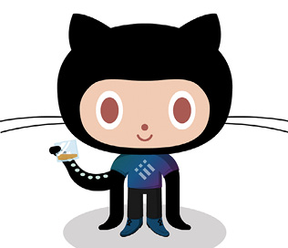 Figure 2. The Octocat is the official mascot of GitHub (https://github.com/cameronmcfee). The Ordered Listocat, a variation from the Octodex, is by Cameron McEfee (https://octodex.github.com/).