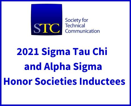 2021 Sigma Tau Chi and Alpha Sigma Honor Societies Inductees