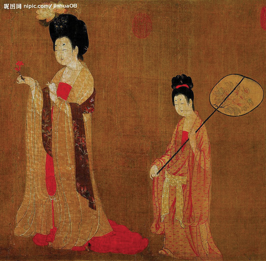 Figure 17. Chinese Gongbi painting as a unique Chinese element is often featured in interface design.