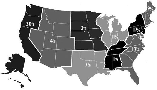 Figure 3. Job locations
